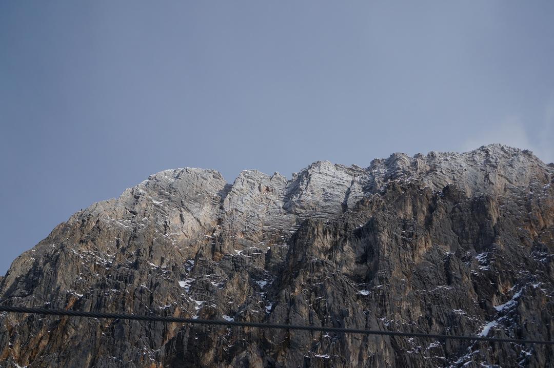 Freeze level on Zugsiptz massiv