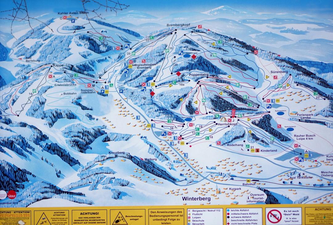 Winterberg piste map