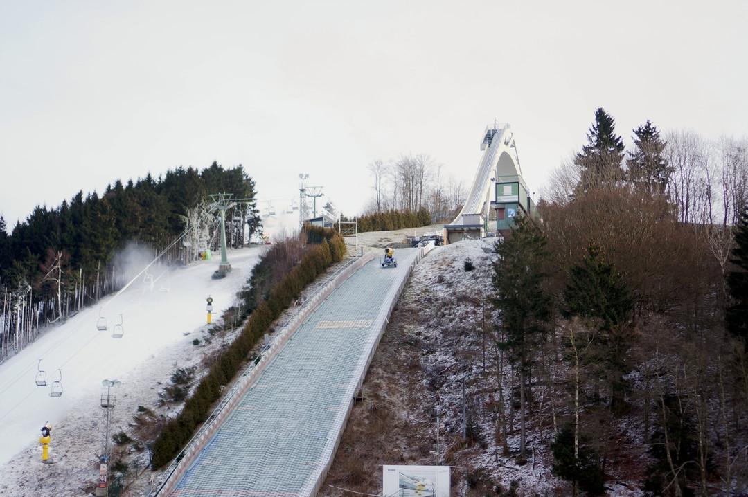 ski jump hill